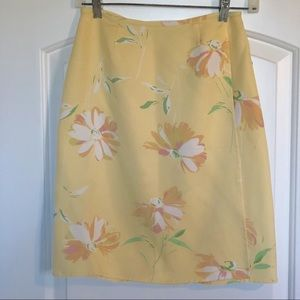 ⚡️NWOT⚡️ Tommy Bahama Yellow Floral Wrap Skirt